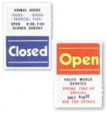 Open/Closed Sign - Large Vertical